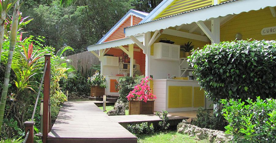 Les bungalows Curcuma et Colombo au gîte des 3 épices.