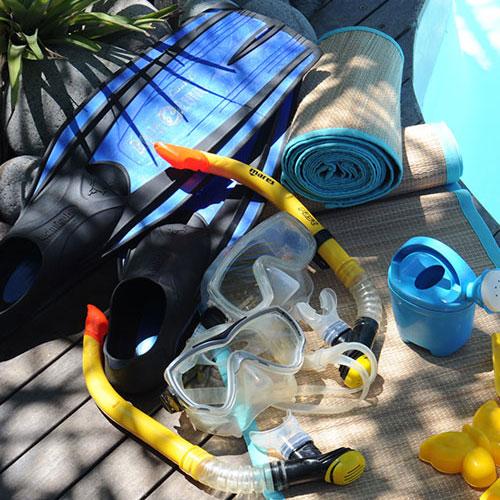 Prêt de masque, tuba et matériel de plongée ou snorkeling