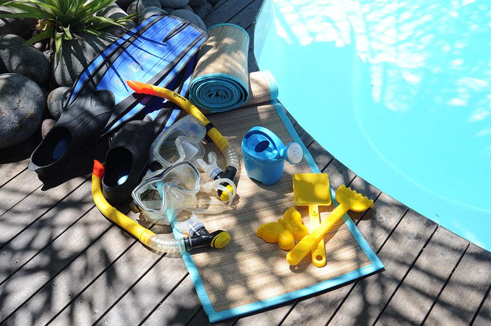 Mise à disposition de matériel pour la plage et le snorkelling